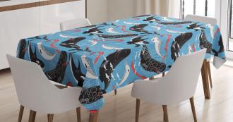 Arctic Ocean Fauna Tablecloth