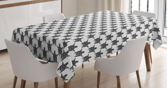 Maori Turtles Tribal Art Tablecloth