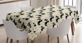 Dog Cat Pet Love Tablecloth