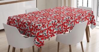 Doodle Flower Art Tablecloth