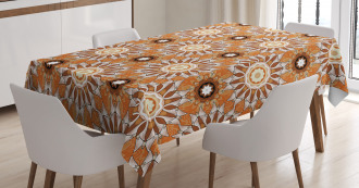 Artistic Flowers Tablecloth