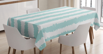 Sketchy Grunge Stripes Tablecloth