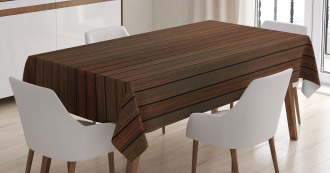 Wooden Floor Design Tablecloth