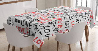 Hand Drawn Doodle Tablecloth