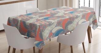 Pastel Vintage Floral Tablecloth