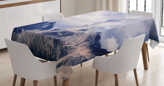 Craggy Peaks Mountains Tablecloth