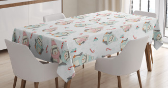 Christmas Penguins Tablecloth