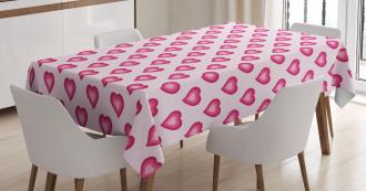 Cute Hearts Cartoon Tablecloth