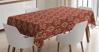 Bicolor Winter Design Tablecloth