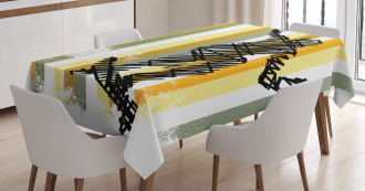 Skateboarder Scribble Tablecloth