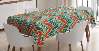 Retro Zigzag Pattern Tablecloth