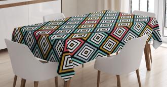 Retro Square Pattern Tablecloth