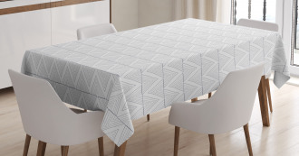 Hand Drawn Style Zigzag Tablecloth