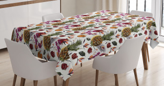 Summer Jungle Watercolors Tablecloth