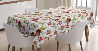 Forest Elements Fungus Tablecloth