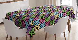 Vibrant Geometrical Tablecloth