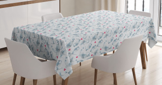 Winter Snowflakes Pattern Tablecloth