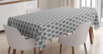 Oriental Damask Tablecloth