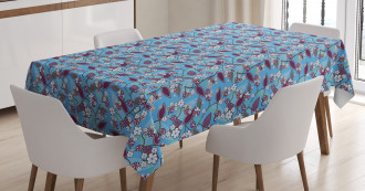 Japanese Tree Blossoms Tablecloth