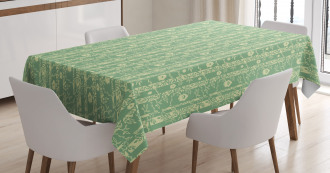 Fresh Tree Leaves Design Tablecloth