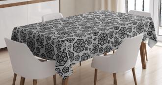Monochrome Paisley Tablecloth