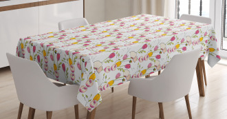 Tulips and Poppies Tablecloth