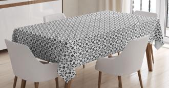 Monochrome Foliage Tablecloth