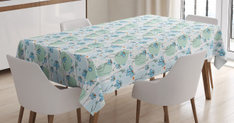 Daisies Butterflies Tablecloth