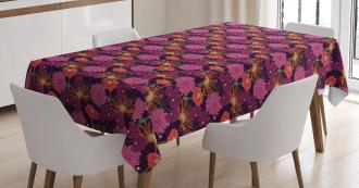 Blooming Romantic Motif Tablecloth