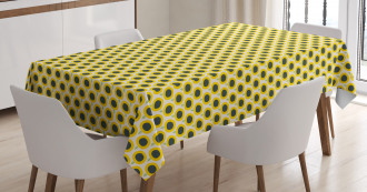 Cute Doodle Sunflowers Tablecloth
