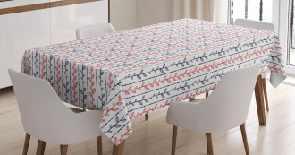 Branches Dotted Lines Tablecloth
