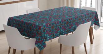 Ornamental Swirls Curls Tablecloth