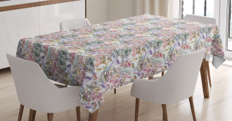 Artistic Spring Scroll Tablecloth