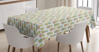 Pastel Tropical Fruit Tablecloth