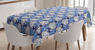 Azulejo Style Tiles Tablecloth