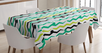 Paint Splashes Abstract Tablecloth