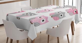 Cute Owl Animals Tablecloth