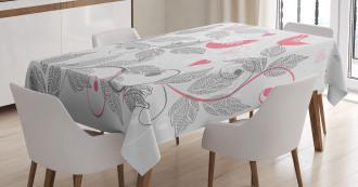 Retro Love Birds Tablecloth