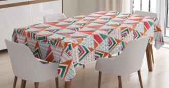 Watercolor Triangles Tablecloth