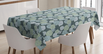 Green Cactus Flowers Tablecloth