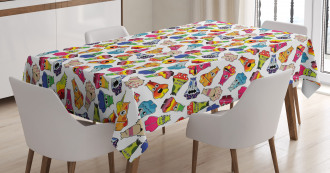 Playful Friendly Monsters Tablecloth