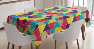 Mosaic Trapezoid Art Tablecloth