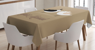 Just Married Birds Kiss Tablecloth