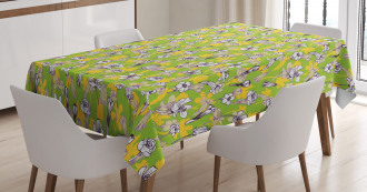 Herbs Blossoms Field Tablecloth