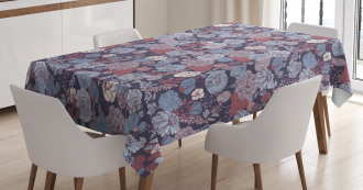 Romantic Flowers Garden Tablecloth