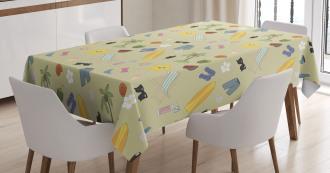 Travel Fun Exotic Beach Tablecloth