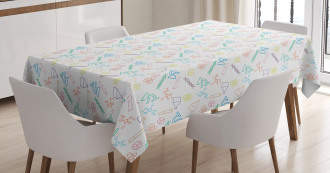 Chemistry Instruments Tablecloth