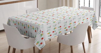 Blossoming Daisy Field Tablecloth