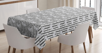 Funny Pony Stripes Doodle Tablecloth