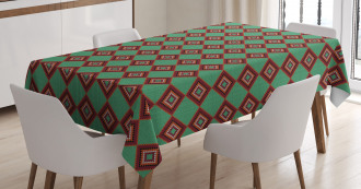 Ornamental Chevron Tablecloth